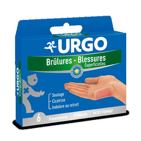 Pansement stérile URGO Brûlures – Blessures superficielles Lot de 6