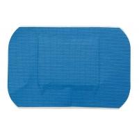 100 Pansements plastiques bleu détectables 70 mm x 50 mm