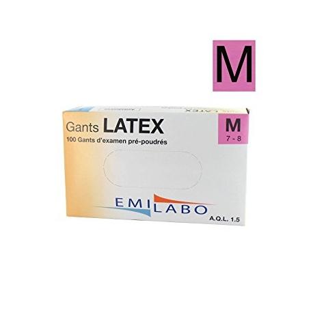 GANTS D'EXAMEN LATEX T7/8