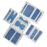 20 Pansements plastiques bleu détectables assortis
