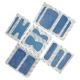 50 Pansements plastiques bleu détectables assortis