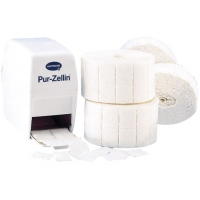 Rouleau de 500 tampons de ouate de cellulose