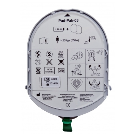 Pad pak adultes - électrodes + batterie - pour défibrillateur automatique Samaritan Pad
