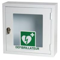 Boîtier mural intérieur sans alarme pour tous les défibrillateurs