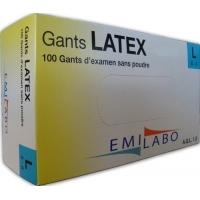 GANTS D'EXAMEN LATEX T 8/9 SANS POUDRE