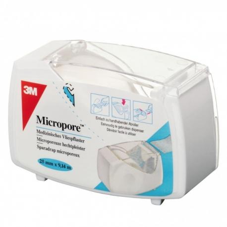 SPARADRAP MICROPOREUX DEVIDOIR AUTOMATIQUE 9Mx2.5CM