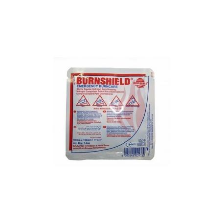 COMPRESSE BRULURES 10X10CM EAU GELIFIEE BURNSHIELD