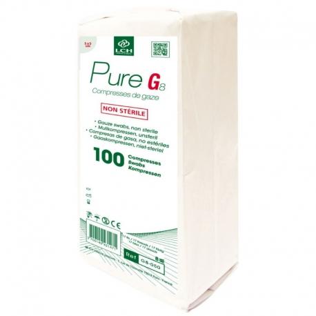 Compresse de gaze non stérile 5x5 boite de 100