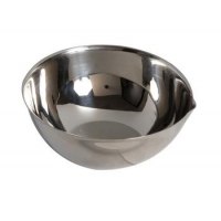 CUPULE 80MM 165ML BEC FOND PLAT INOX